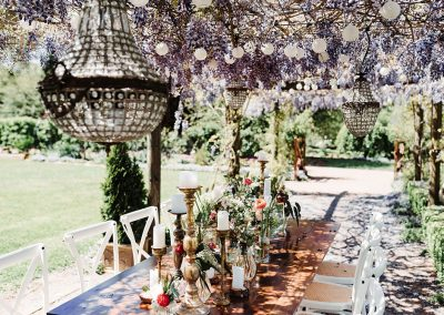 table setting for a garden event